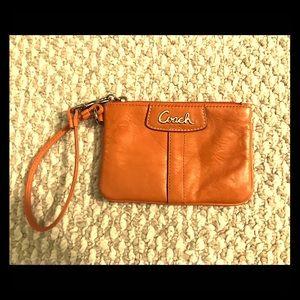 NWOT COACH Leather Wristlet Pouch/Wallet